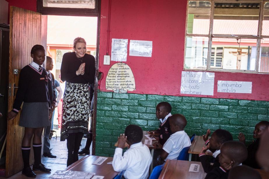 La princesse Charlène en mission en Afrique du Sud