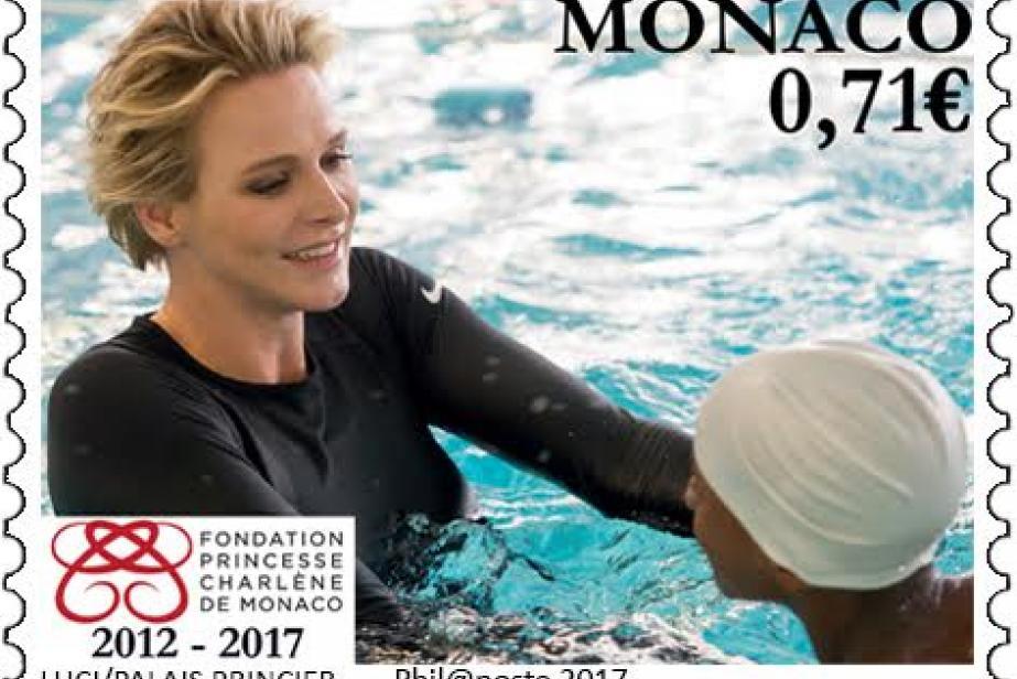 L'Office des Timbres de Monaco célèbre les 5 ans de la Fondation Princesse Charlène